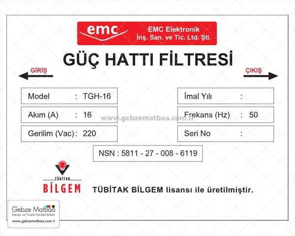PVC Etiket
